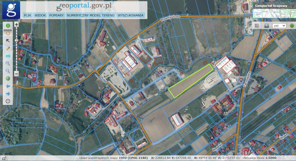 Działka przemysłowa w Tuchowie 1,12 ha bez pośredników