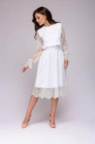 Красивое нежное белое платье, можно на роспись