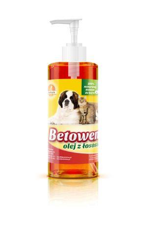 Olej z łososia dla psów, kotów, piękna sierść, 0,5 litra