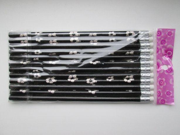 Цена за комплект 12 штук Простые карандаши Футбольные с ластиком
