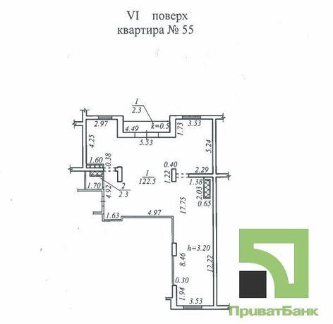 Квартира №55, паркувальне місце № 35, м. Дніпро, узвіз Крутогірний, 28