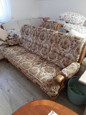 Kanapa sofa trójka i fotel