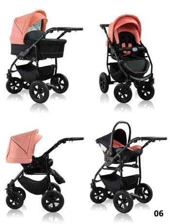 Carrinho de bebé + acessórios 3em1 NOVO Várias cores