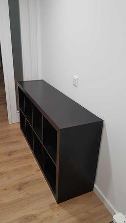 Kallax estante preto-castanho (8 cubos de arrumação)