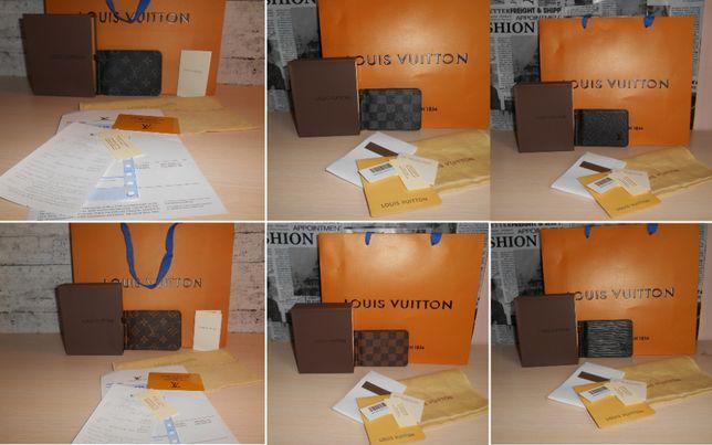 Кошелек,зажим, портмоне, мужской Louis Vuitton, кожа, Франция 021