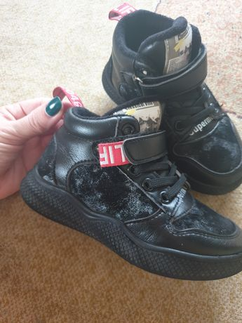 Ботинки кроссовки на флисе