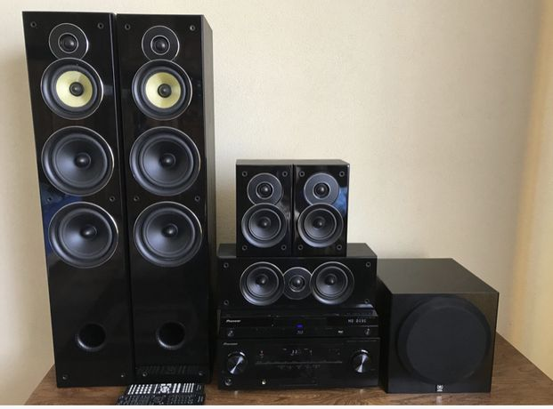 Kino domowe 7.1 Pioneer VSX-821 BDP-430 Koda Tav-606  Yamaha YST-SW012