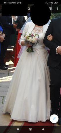 Suknia ślubna Margarett Malve + bolerko