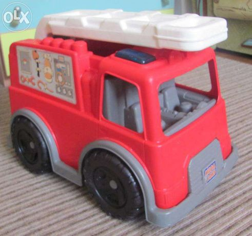 Большая пожарная машина Bloks Maxi с конструктором