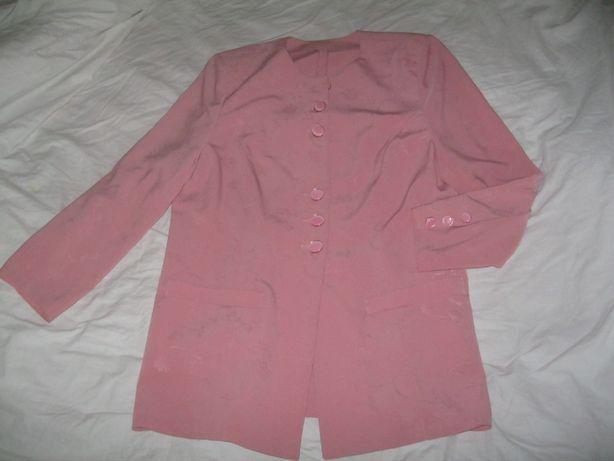 костюм юбка с удлиненным жакетом р.48