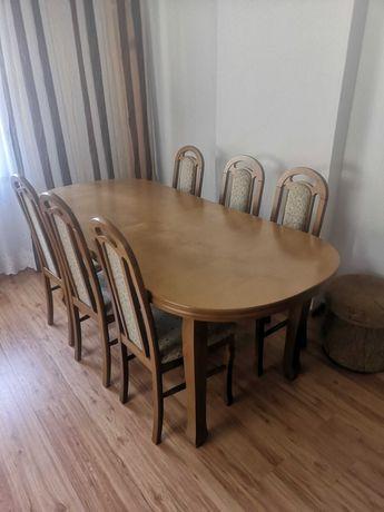 Stół rozkładany 200cm + komplet 6 krzeseł