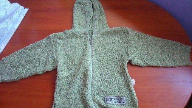 bluza sweter dziewczęcy rozpinany z kapturem na 98 cm