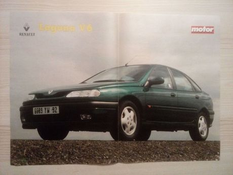 Plakat Poster Renault Laguna V6 33,5cm x 47cm Samochody Auto Cars