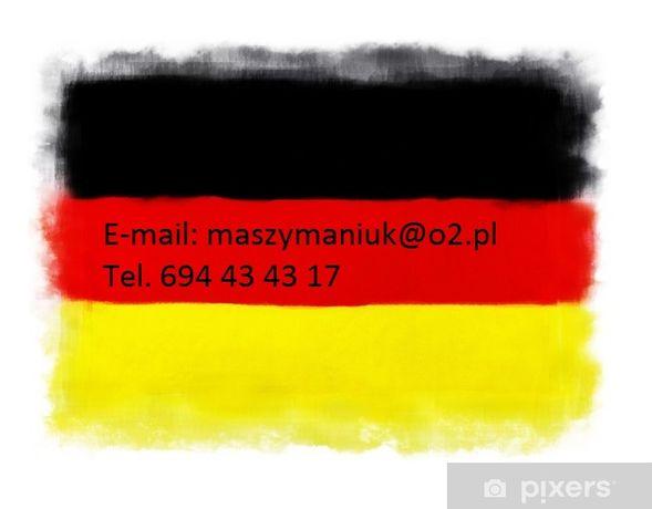 Tłumaczenia zdalne - język niemiecki - przysięgłe, wysyłka.
