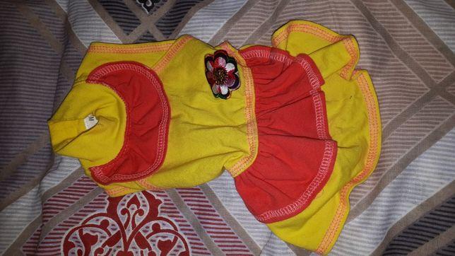 Одежда для собаки платье сарафан и комбинезон