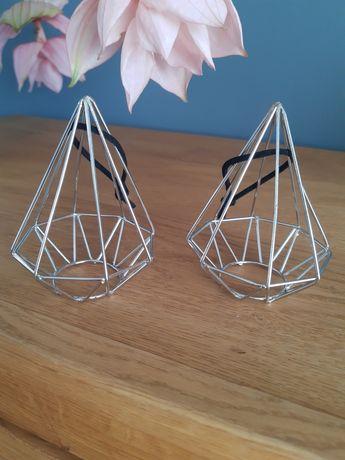 Metalowe dekoracje geometryczne