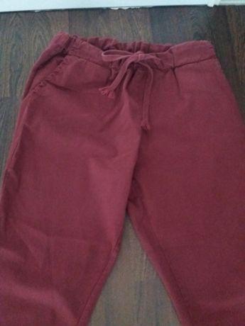 Spodnie damskie burgund boyfrendy