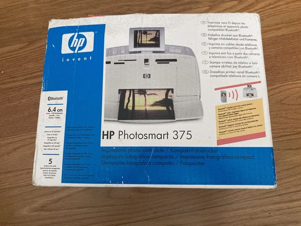 HP Photosmart 375 Impressora Fotográfica Nova (por estrear)