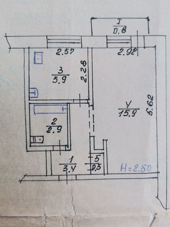 Продаётся 1 - комнатная квартира на посёлка Авангард