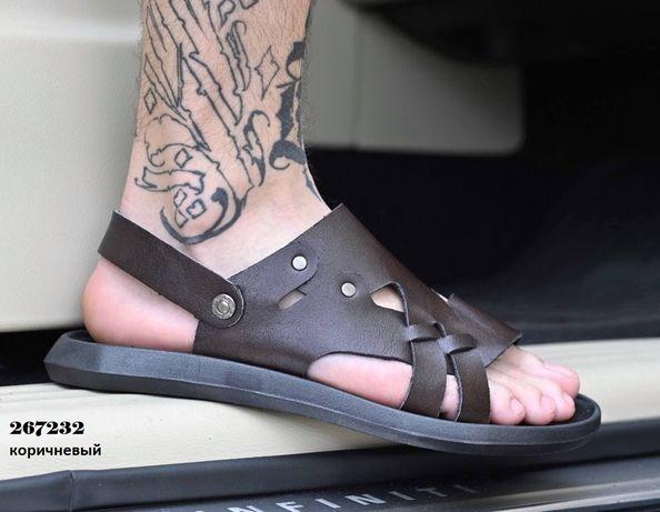 Мужские сандали - шлепки удобные экокожа