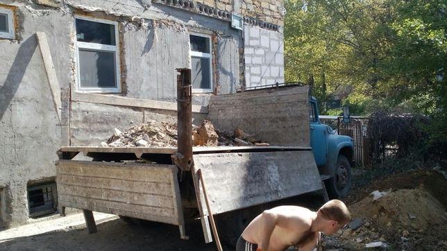 Вывоз мусора старой мебели хлама гаражи. Грузчики. ЗИЛ - Газель.