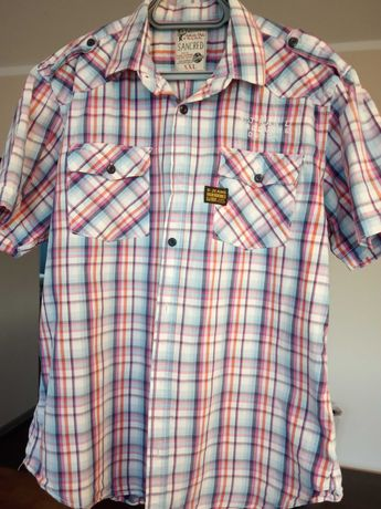 Koszula męska z krótkim rękawem XL