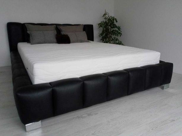 Nowe Łóżko ramowe tapicerowane sypialniane z materacem i pojemnikiem