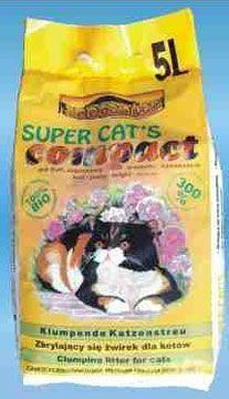 Żwirek dla kota bentonit 5 l Super Cat's Compact zapachowy