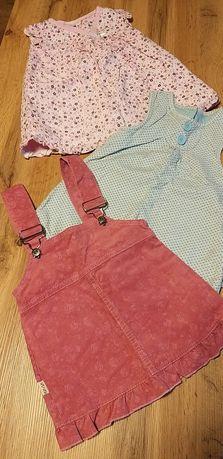 Sukienki dla dziewczynki rozm 62-68 ze sztruksu