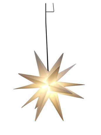 Star-Max світлодіодна пластикова зірка біла 58см  Star-Max світлодіодн