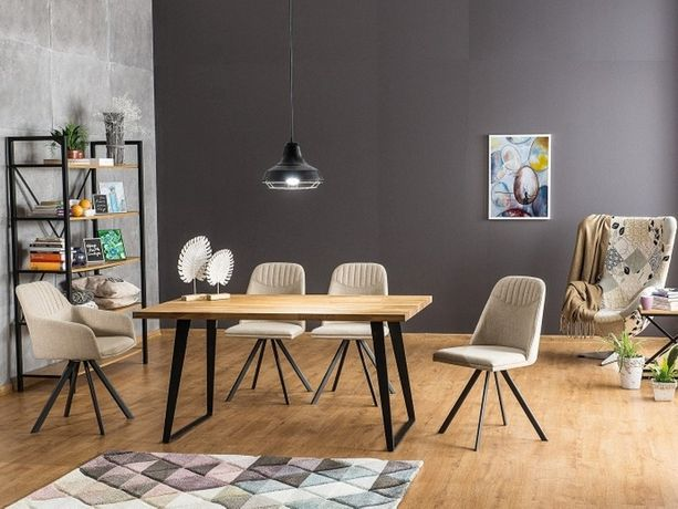 FALCON stół industrialny stół drewniany stół dębowy DOWÓZ GRATIS