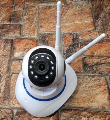Вайфай камера наблюдения беспроводная ip camera wifi v380 поворотная
