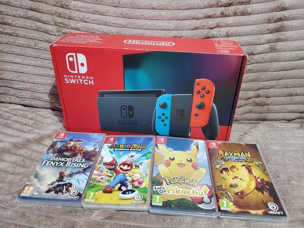 Nintendo Switch v2 /gwar. 24m /gry/Gratisy/Super zestaw dla Dziecka