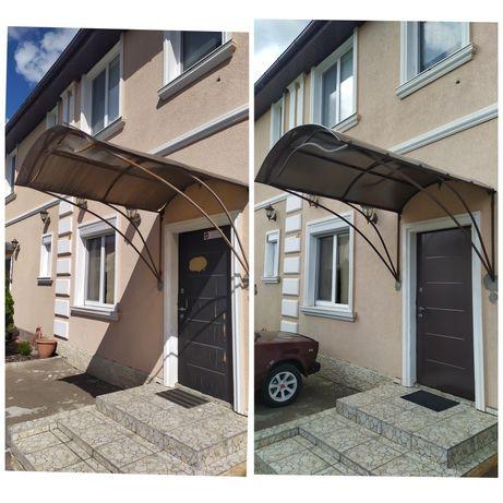 Реставрация ремонт монтаж дверных козырьков навесов