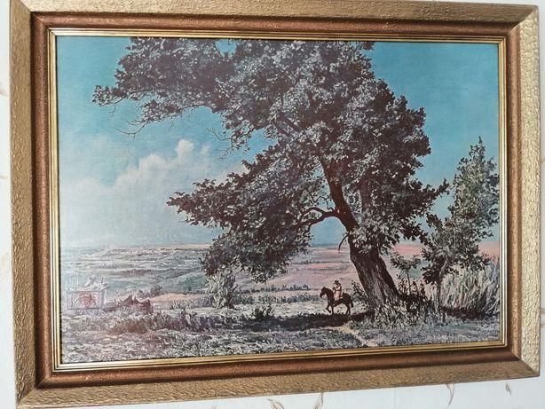 Stary obraz Rama obrazu Vintage antyk