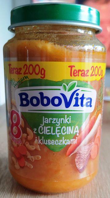 Nowy obiadek BoboVita jarzynki z cielęciną i kluseczkami 200 g po 8 m.