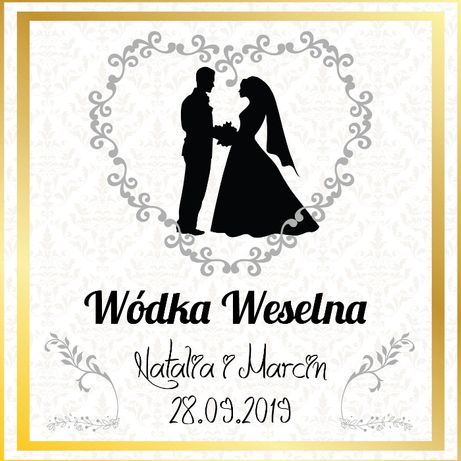 Etykiety , naklejki na butelki / alkohol wesele ślub