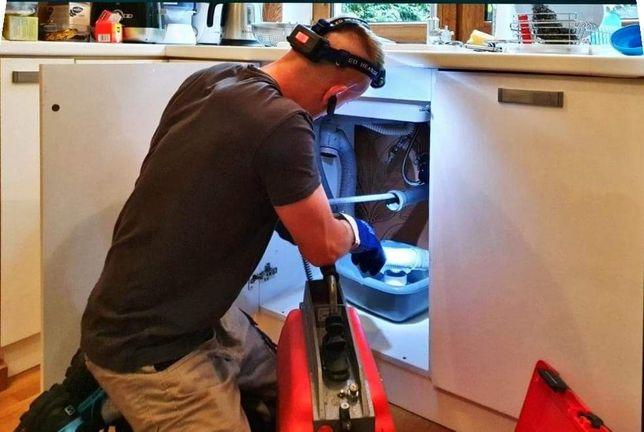 Hydraulik Udrażnianie  czyszczenie rur kanalizacji Kamera TV Wuko 24H