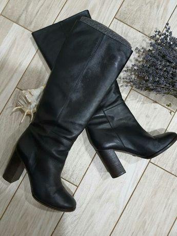 Крутые кожаные сапоги massimo dutti 37 размер