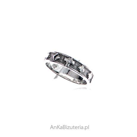 ankabizuteria.pl srebrny łańcuszek z serduszkiem Obrączka różaniec sre