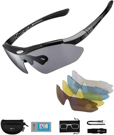 Óculos de ciclismo Rockbros com 5 lentes