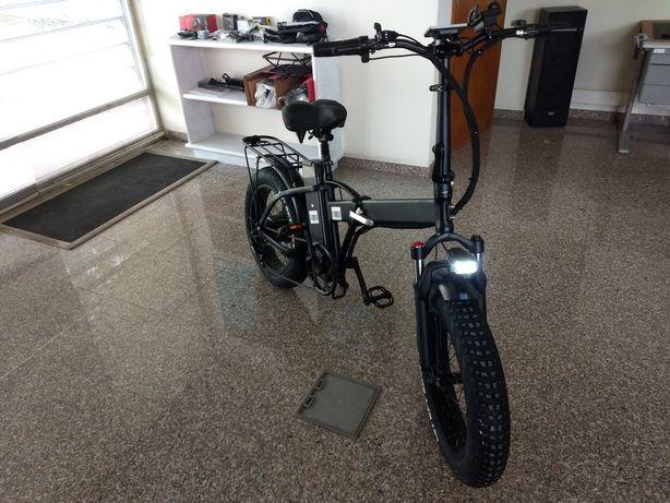 bicicleta eléctrica dobrável roda gorda 20 - Novos Modelos 2021