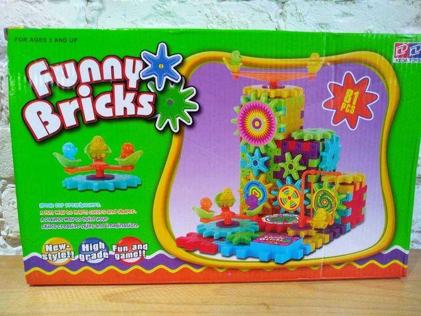Детский развивающий конструктор Funny bricks 3D волшебные шестеренки