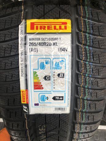 Зима 4шт Pirelli Winter Sottozero 3 265/40 R20 104V XL AO
