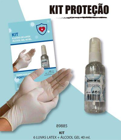 Kit protecção 6 luvas latex + Gel hidro Gel