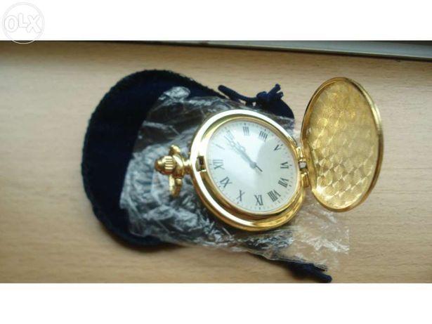 Relógio bolso dourado