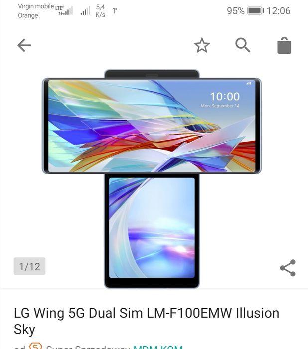 Telefon LG Wing 5g 2 ekrany nowy gwar 2 lata Warszawa - image 1