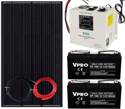 Zestaw Solarny 2000W Panel 320W INWERTER 24v > 230V AKUMULATOR 200Ah