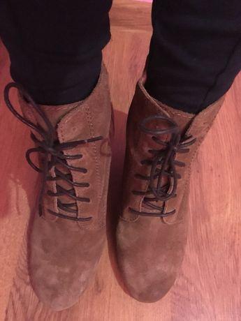 Ботильоны , ботинки ,полусапожки из натуральной(кожи)замши -осень!