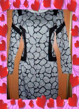 Оригинальное платье, р.44